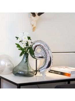 Ballon Chiffre 9 argent 36 cm