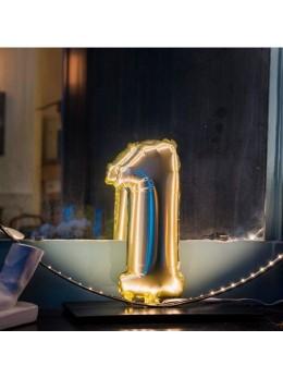 Ballon Chiffre 1 or 36 cm