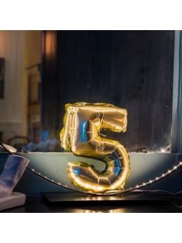 Ballon Chiffre 5 or 36 cm