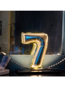 Ballon Chiffre 7 or 36 cm