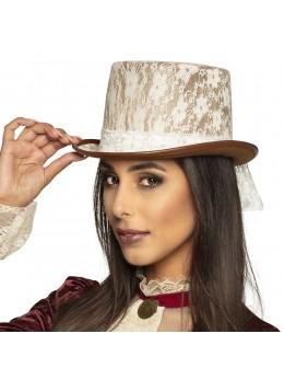 Chapeau haut de forme steampunk dentelle