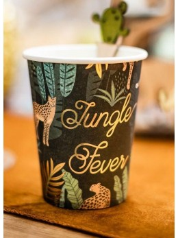 8 Gobelets Jungle Fever