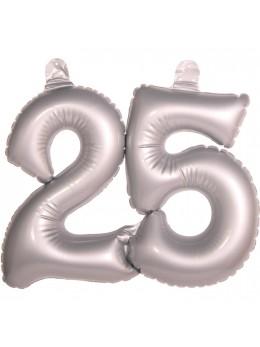 Chiffre gonflable 25 ans argent