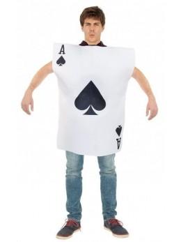 Déguisement jeux de carte as de pique