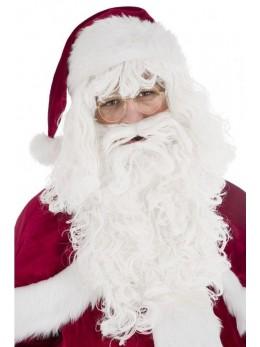 Set Père Noël barbe et perruque luxe