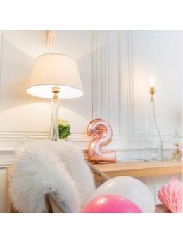 Ballon Chiffre 2 rose gold 36 cm