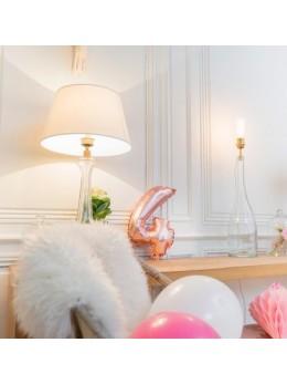 Ballon Chiffre 4 rose gold 36 cm