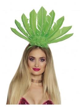 Serre tête samba plumes vert