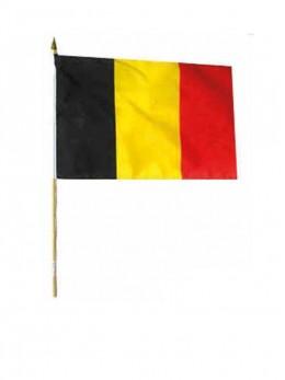 12 drapeaux Belgique tissu 15x23cm