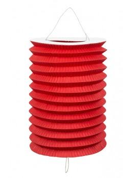 12 Lampions cylindriques rouge 13cm