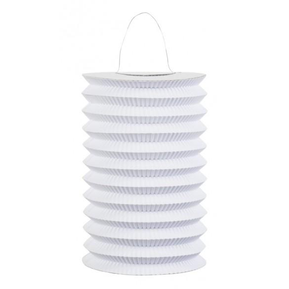 12 Lampions cylindriques blanc 16cm