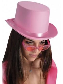 Chapeau haut de forme rose