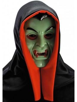 Masque rigide cagoule vampire fluo