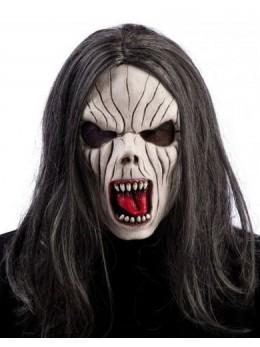 Masque latex adulte vampire avec cheveux