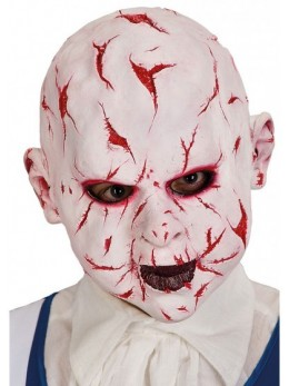 Masque latex adulte poupée sanguinolante