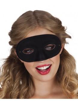 Masque loup tissu noir