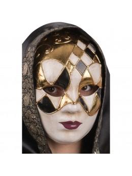 Masque Vénitien noir et or