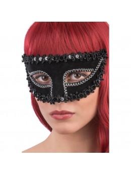 Masque loup vénitien noir