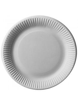 100 Assiettes carton blanches  biodégradables