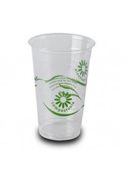 50 gobelets bio PLA 33cl compostable