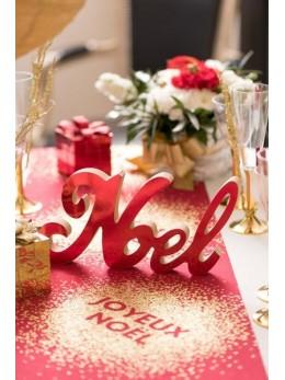 Lettres Noël métallisées rouge