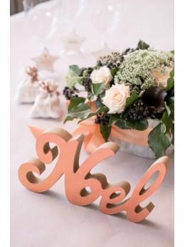 Lettres Noël métallisées rose gold