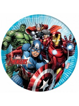 8 Assiettes Avengers mighty ™ 23 cm