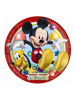 8 Assiettes Mickey playful ™ 23 cm