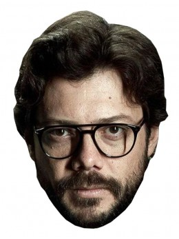 Masque carton du professeur Casa De Papel