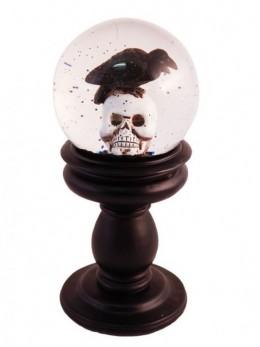 Déco boule de cristal neige tête de mort