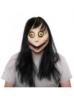 Masque latex momo chalenge avec cheveux
