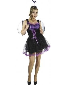 Déguisement Bat girl noir et violette