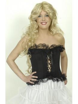 Déguisement corset noir avec dentelle