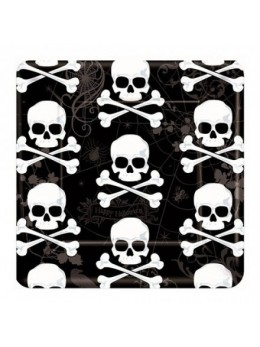 18 Assiettes carton pirate Skull