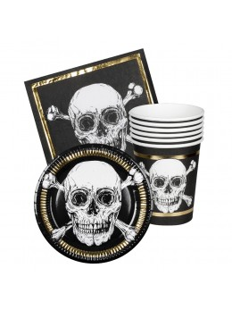 Kit déco de table pirate Skull