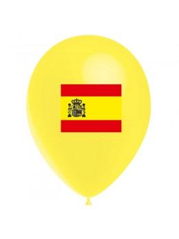 10 Ballons drapeau Espagne 30cm