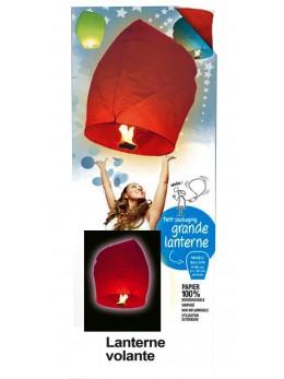 Lanterne volante couleur rouge