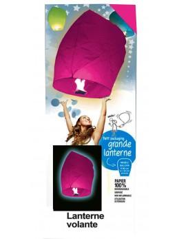 Lanterne volante couleur rose