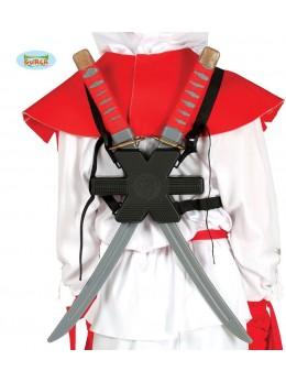 Set ninja épées dans le dos