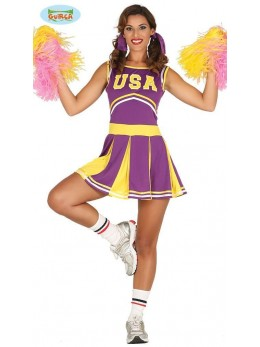 Déguisement Pompom Girl violette