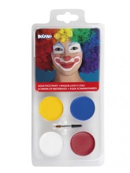 Palette 4 maquillages à l'eau clown