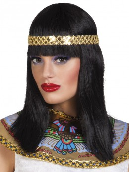 Perruque déesse egyptienne avec bandeau