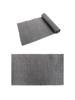 Chemin de table burlap gris foncé métal