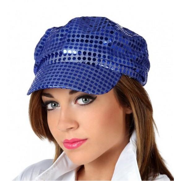 Casquette disco bleu