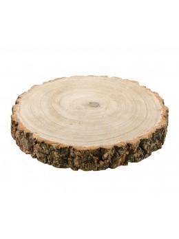 Déco rondin de bois luxe 26cm