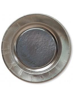8 assiettes carton argent 21cm