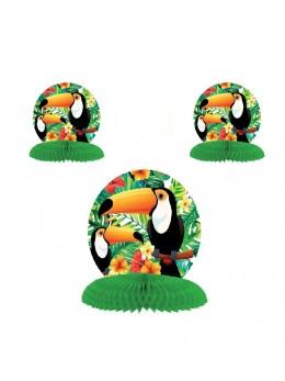 3 Décos alvéolées toucan