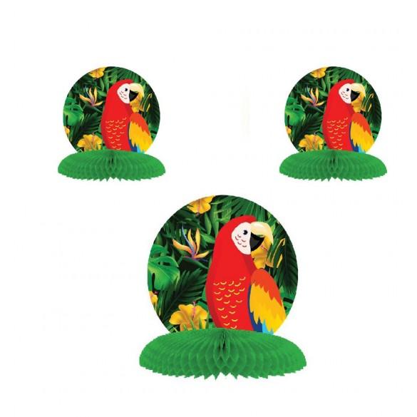 3 Décos alvéolées perroquet