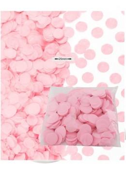 Sachet 50g confetti rose 2.5cm