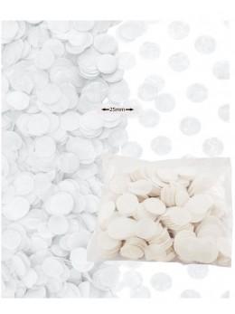 Sachet 50g confetti blanc 2.5cm